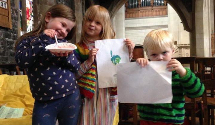 Trinity Sunday – Kids get theological with Eton Mess, shamrocks and pretzels
